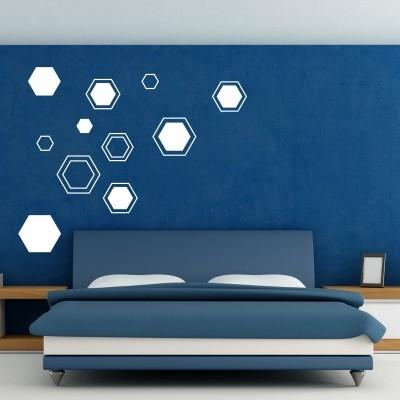 Abstraktna stenska nalepka - šestkotniki