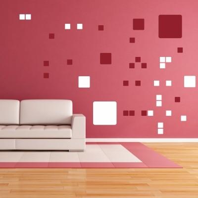 Abstraktna stenska nalepka - kvadratki